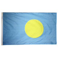 3x5 ft. Nylon Palau Flag with Heading and Grommets