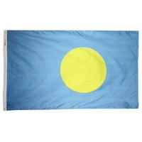 3x5 ft. Nylon Palau Flag Pole Hem Plain