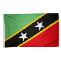 2x3 ft. Nylon St Kitts / Nevis Flag with Heading and Grommets