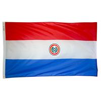 2x3 ft. Nylon Paraguay Flag Pole Hem Plain