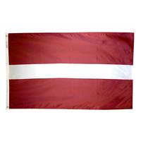 3x5 ft. Nylon Latvia Flag Pole Hem Plain
