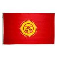 3x5 ft. Nylon Kyrgyzstan Flag Pole Hem Plain