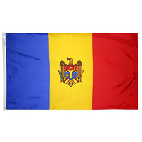 5x8 ft. Nylon Moldova Flag with Heading and Grommets