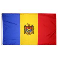3x5 ft. Nylon Moldova Flag Pole Hem Plain