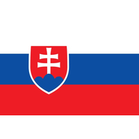 2x3 ft. Nylon Slovakia Flag Pole Hem Plain