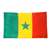 5x8 ft. Nylon Senegal Flag with Heading and Grommets