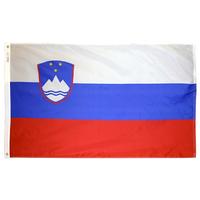 3x5 ft. Nylon Slovenia Flag Pole Hem Plain
