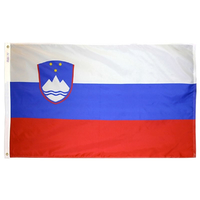 3x5 ft. Nylon Slovenia Flag with Heading and Grommets