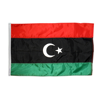 3x5 ft. Nylon Libya Flag Pole Hem Plain