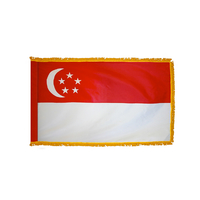 4x6 ft. Nylon Singapore Flag Pole Hem and Fringe