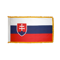 3x5 ft. Nylon Slovakia Flag Pole Hem and Fringe