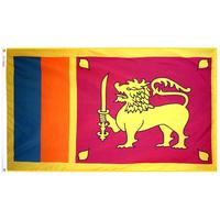 4x6 ft. Nylon Sri Lanka Flag with Heading and Grommets