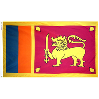 4x6 ft. Nylon Sri Lanka Flag Pole Hem Plain