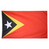 3x5 ft. Nylon Timor-East Flag Pole Hem Plain