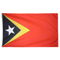 5x8 ft. Nylon Timor-East Flag with Heading and Grommets
