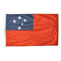 4x6 ft. Nylon Samoa Flag Pole Hem Plain