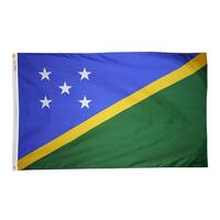 3x5 ft. Nylon Solomon Islands Flag Pole Hem Plain