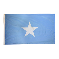 2x3 ft. Nylon Somalia Flag Pole Hem Plain