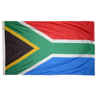 3x5 ft. Nylon South Africa Flag Pole Hem Plain
