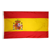3x5 ft. Nylon Spain Flag with Heading and Grommets