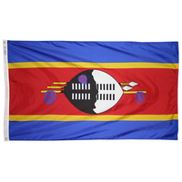 2x3 ft. Nylon Swaziland Flag with Heading and Grommets