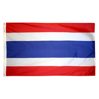 3x5 ft. Nylon Thailand Flag Pole Hem Plain