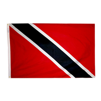5x8 ft. Nylon Trinidad/Tobago Flag with Heading and Grommets