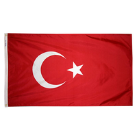 5x8 ft. Nylon Turkey Flag with Heading and Grommets