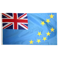 2x3 ft. Nylon Tuvalu Flag Pole Hem Plain