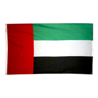 3x5 ft. Nylon United Arab Emirates Flag Pole Hem Plain