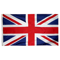 3x5 ft. Nylon United Kingdom Flag Pole Hem Plain