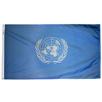 3x5 ft. Nylon United Nations Flag Pole Hem Plain