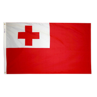 5x8 ft. Nylon Tonga Flag with Heading and Grommets