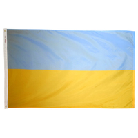 2x3 ft. Nylon Ukraine Flag Pole Hem Plain