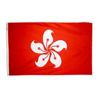 3x5 ft. Nylon Xian gang / Hong Kong Flag Pole Hem Plain