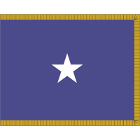3 ft. x 4 ft. Air Force 1 Star General Flag Pole Sleeve & Fringe