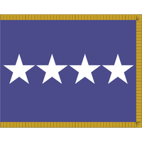 3 ft. x 4 ft. Air Force 4 Star General Flag Pole Sleeve & Fringe