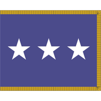 3 ft. x 4 ft. Air Force 3 Star General Flag Pole Sleeve & Fringe