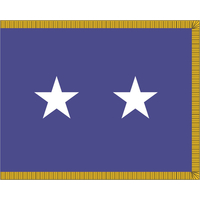 3 ft. x 4 ft. Air Force 2 Star General Flag Pole Sleeve & Fringe