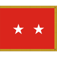 3 ft. x 4 ft. Army 2 Star General Flag, Parades and Display Fringed