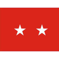 3 ft. x 4 ft. Army 2 Star General Flag Indoor Display Parade