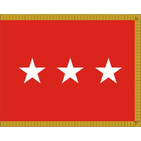 3 ft. x 4 ft. Army 3 Star General Flag, Parades and Display Fringed