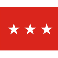 2 ft. x 3 ft. Army 3 Star General Flag w/Grommets