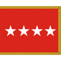 3 ft. x 4 ft. Army 4 Star General Flag, Parades and Display Fringed