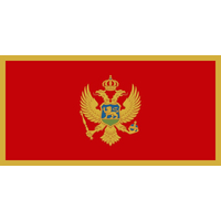 5x8 ft. Nylon Montenegro Flag with Heading and Grommets