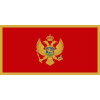 4x6 ft. Nylon Montenegro Flag with Pole Hem Plain
