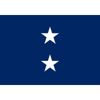 2 ft. x 3 ft. Navy 2 Star Admiral Flag w/Grommets
