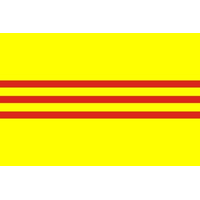 2x3 ft. Nylon South Vietnam Flag Pole Hem Plain