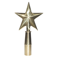 4 in. Brass Guiding Star /Texas Star with Ferrule