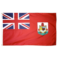 2x3 ft. Nylon Bermuda Flag with Pole Hem Plain